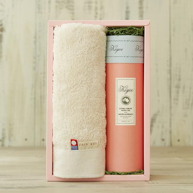 ギフトタオル&化粧ボックス<キヨエ>120ml