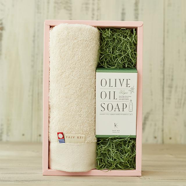 ギフトタオル&キヨエまるごと石鹸100g